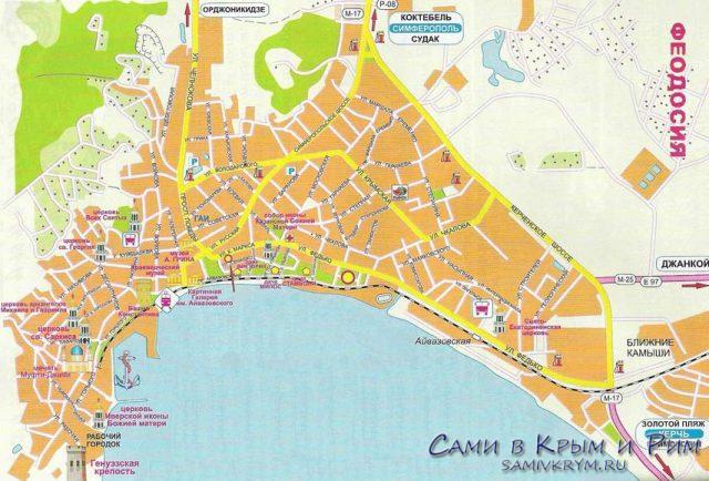 Феодосия-Карта