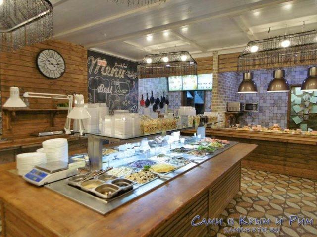 Кафе Веранда внутри