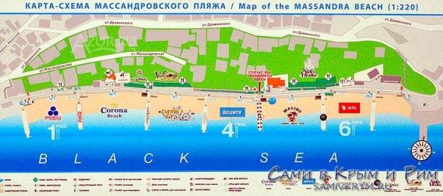 Карта-схема-Массандровского-пляжа
