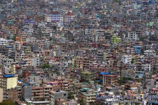 Катманду вид сверху