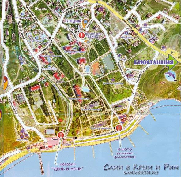Курортное карта