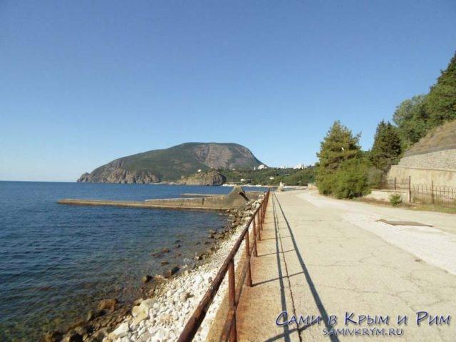 Набережная и городские пляжи Партенита