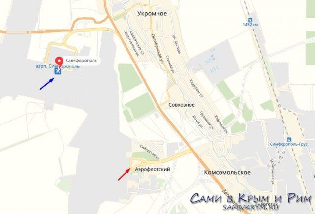 Новый терминал аэропорта на карте