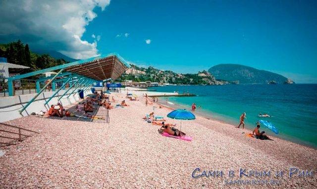 Пляж санатория Гурзуфский