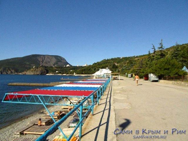 Пляж санатория Карасан