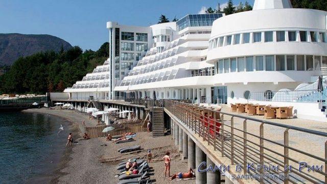Пляж у отеля Европа