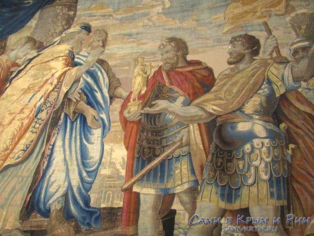 Римские войны на гобеленах замка