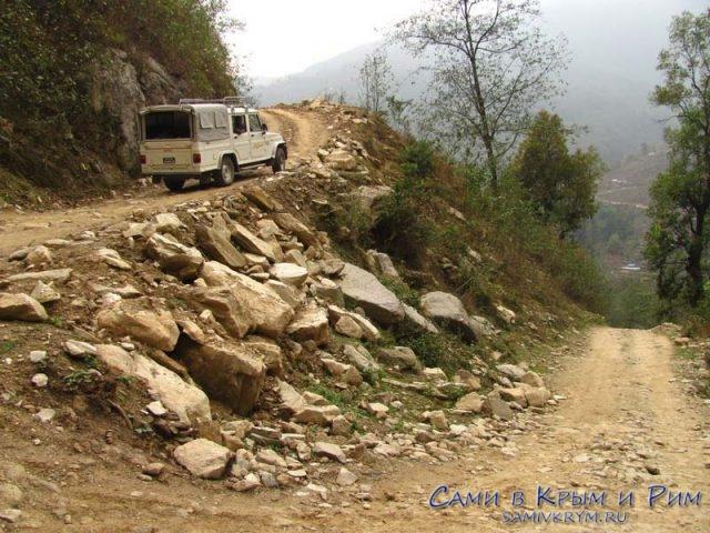 Дорога от Сунами в Ная Пул