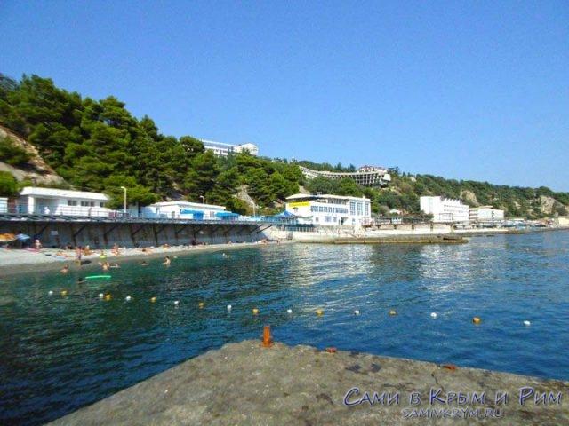 Общественные пляжи Гаспры