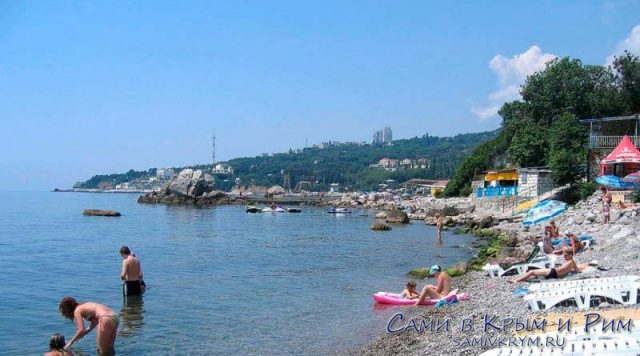 Пляж санатория Семашко