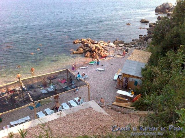 Пляж в поселке Форос