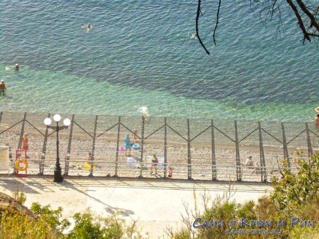 Пляж в санатории Днепр