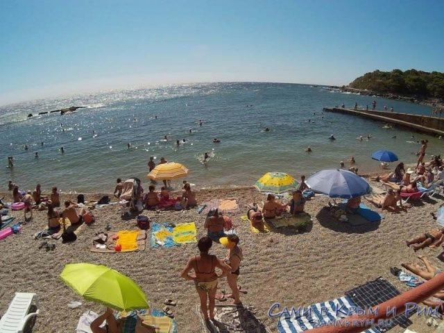 Пляж в санатории Форос