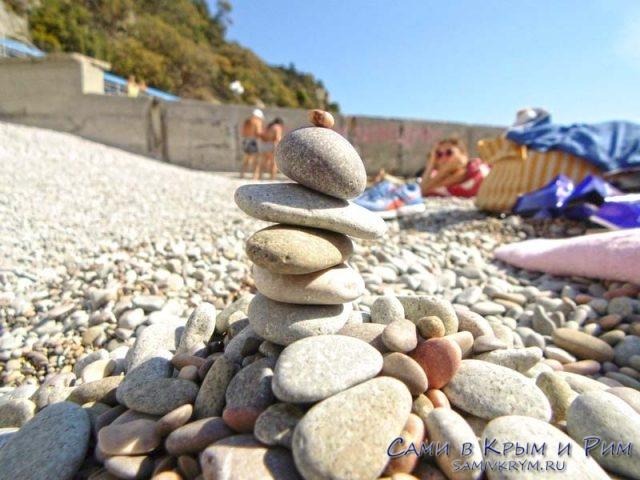 Приятный грунт на пляжах Гаспры