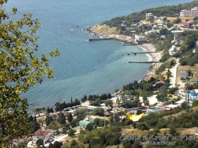 Вид с горы Кошка на поселок Кацивели