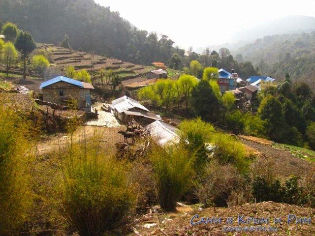 Живописные непальские домики