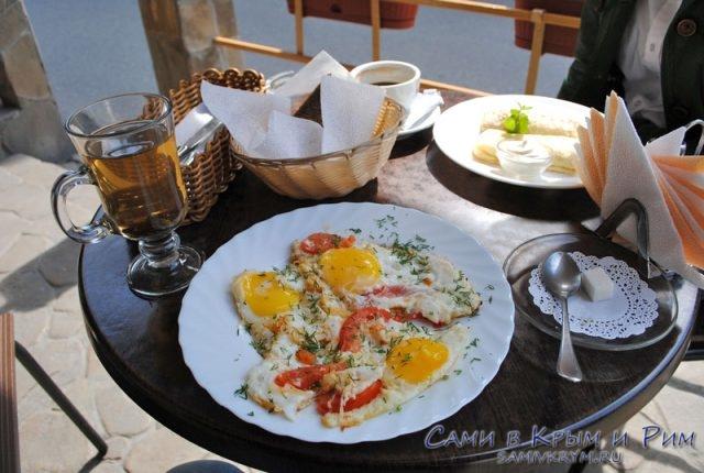 Наш завтрак в Блинотеке