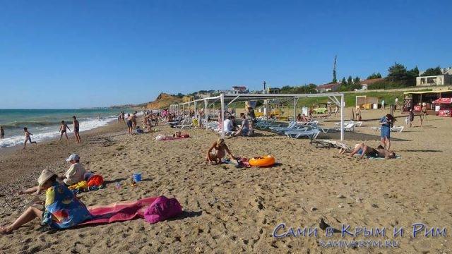 Песочные пляжи Любимовки