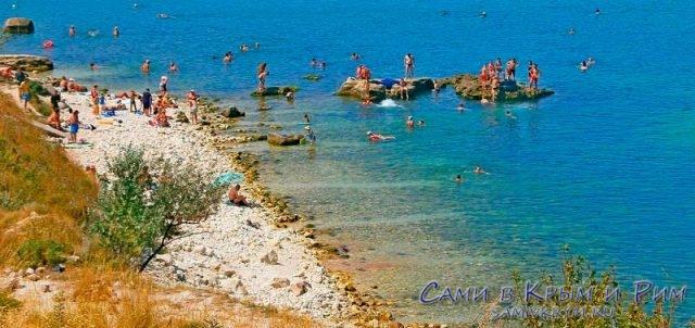 Пляж Скалки в Карантинной бухте
