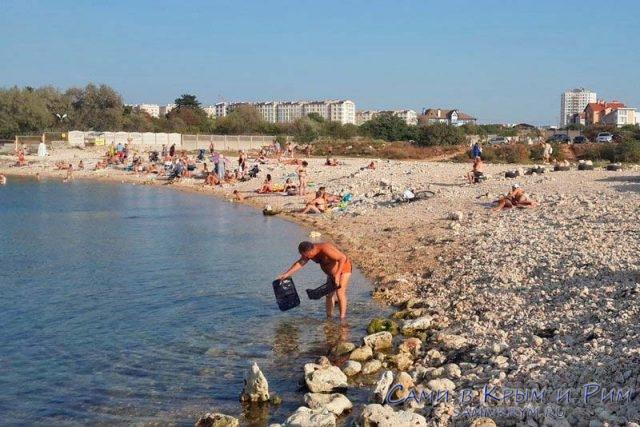 Пляж Солдатский в Севастополе