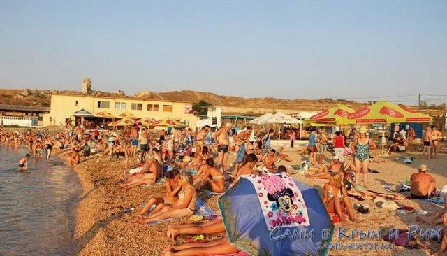Пляж Солнечный в Стерелецкой