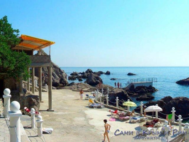 Пляж пансионата Изумруд