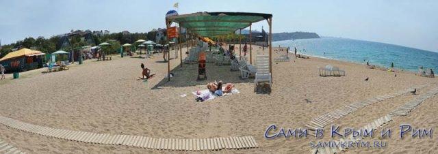 Пляж у турбазы Мокроусова