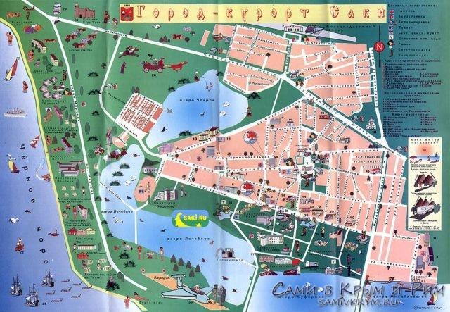 Карта курорта Саки