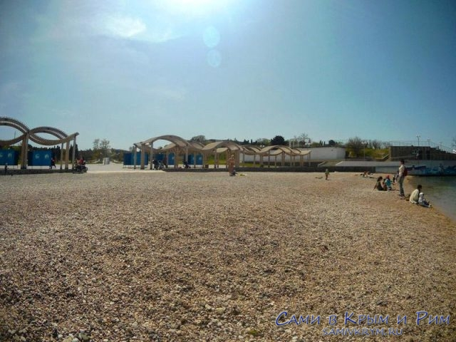 Пляж Солнечный после реконструкции
