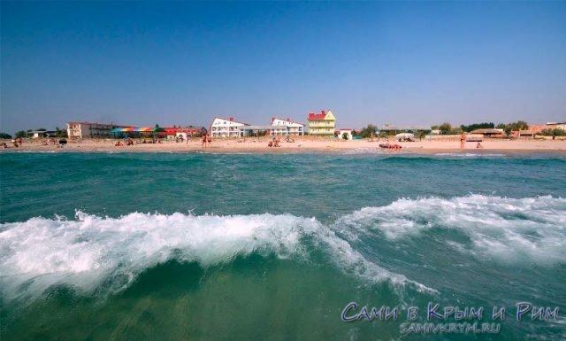 Пляж в Поповке вид с моря