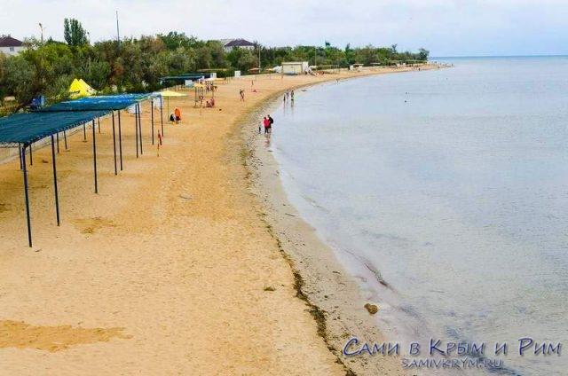 Пляжи в Заозерном