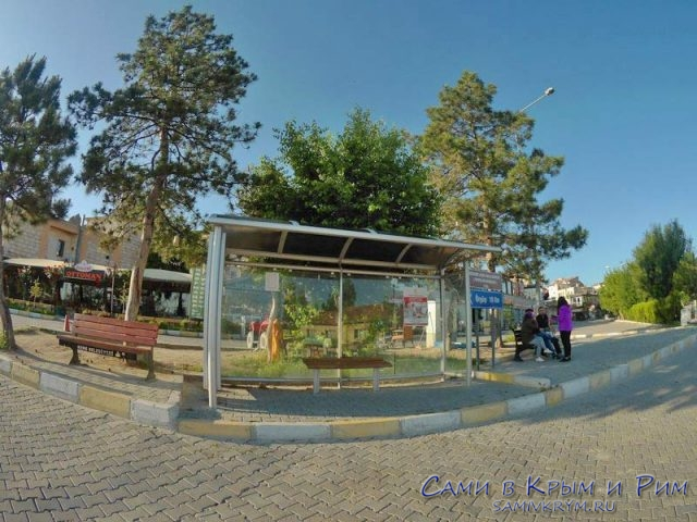 Автобусная остановка в Гереме