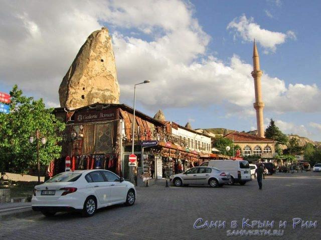 Фишка Гереме в скальных башнях прямо в городе