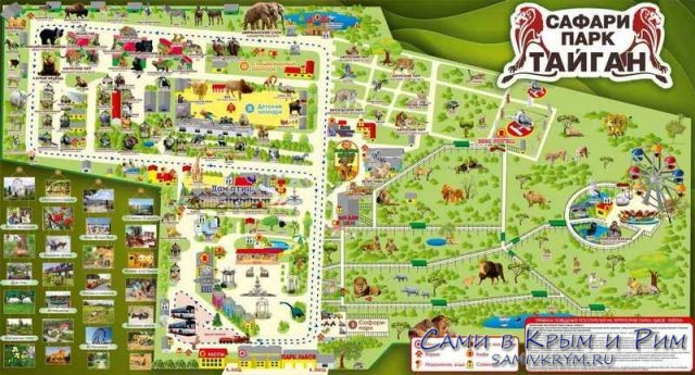 Карта Парка львов Тайган