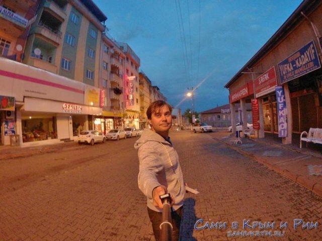 Пустые вечерние улицы Невшехира