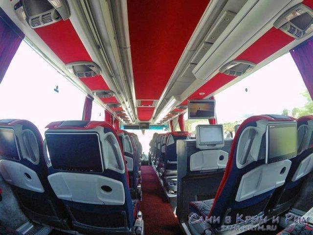 Салон автобуса компании Игдир