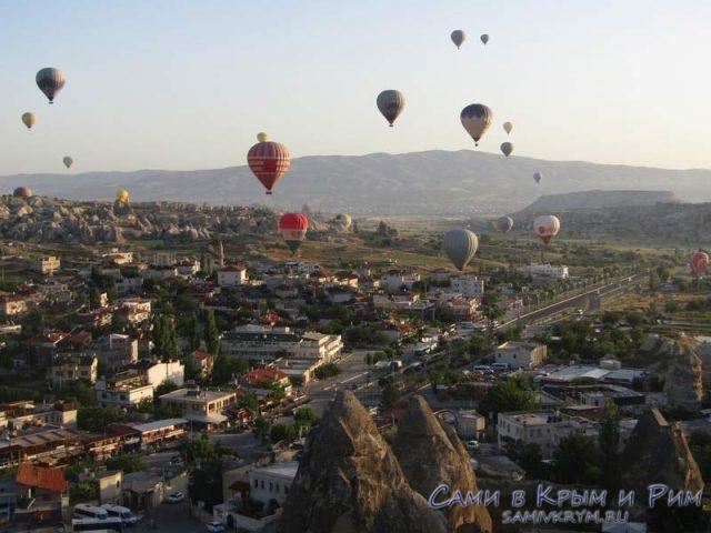 Утро и воздушные шары в Гереме