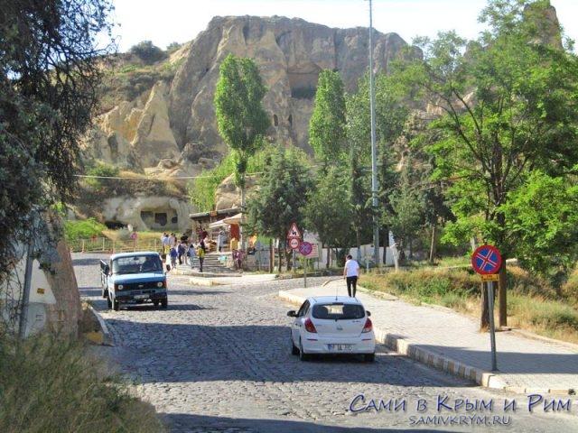 Дорога от парковки до Музея Гереме