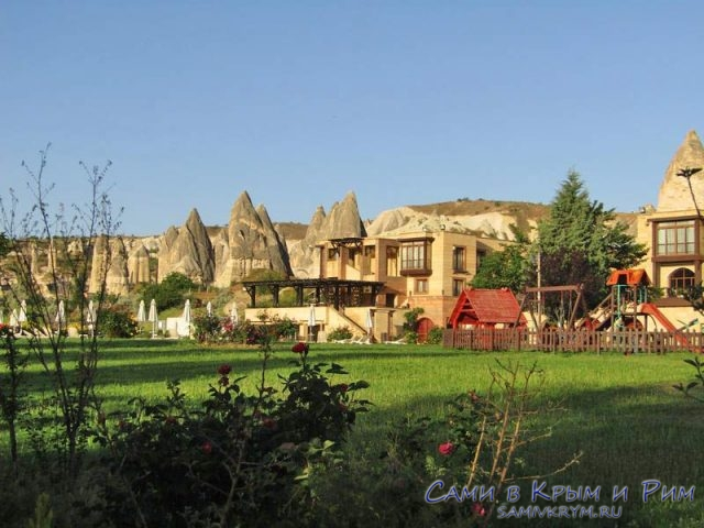 Гостиница прямо в долине