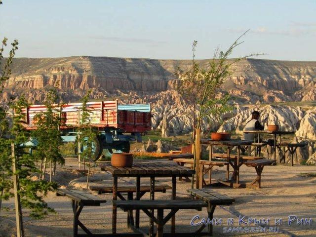 Кафе и лавки на смотровой площадке