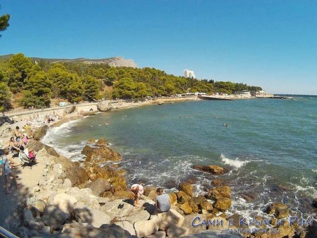 Пляжная линия санатория Форос