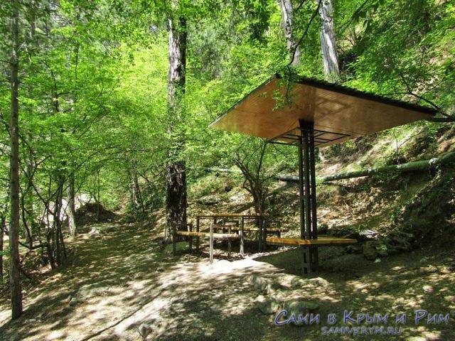Беседки для отдыха на Боткинской тропе