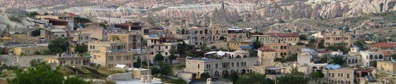 Город Гереме на фоне Актепе