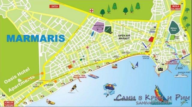 Карта Мармариса