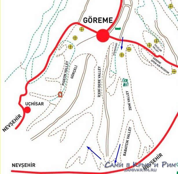 Карта-маршрут долины Земи