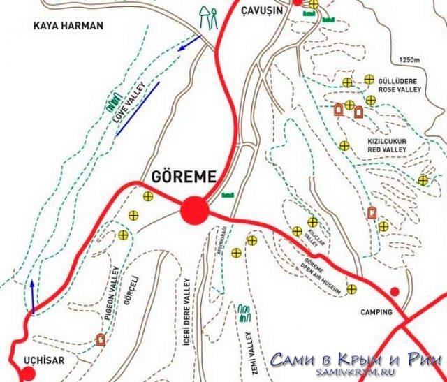 Карта-маршрута по долине Любви