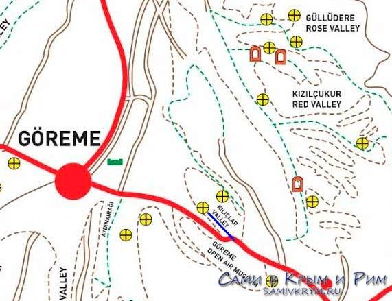 Карта-схема долины Сабель