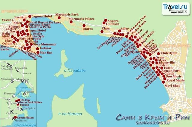 Курортные отели Мармариса