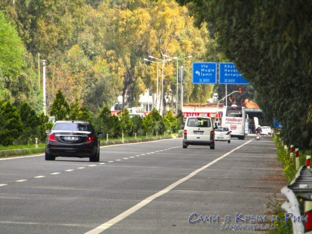 Остановка по требованию по дороге в Фетхие