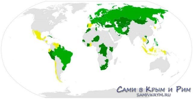 Страны участницы Венской конвенции